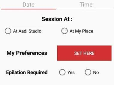AADI's Booking App
