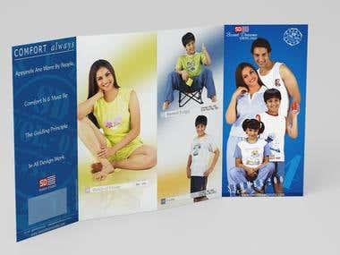 Leaflet Design 4 Fold for Fashion, Apparel Manufacturer