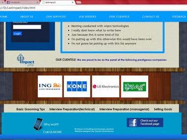 A website i designed for a job consulting firm