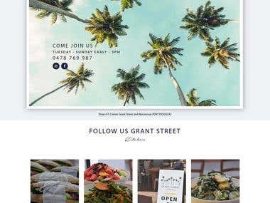http://www.grantstreetkitchen.com.au/ - Static website