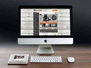 www.iron-cafe.com based on Codeigniter
