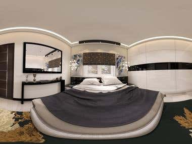 360 Panorama render for Bed Room
