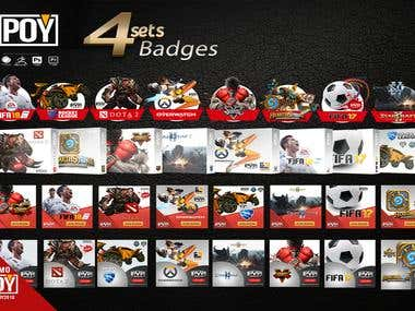 Gaming badges