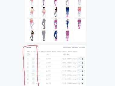Shopify SKU,Color, Images