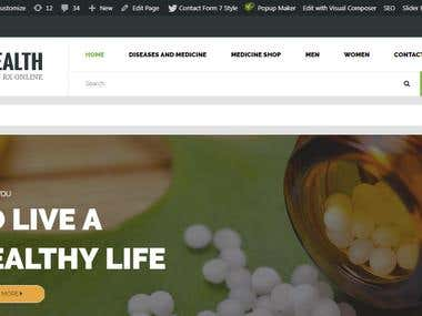 Health Products - Ecommerce website