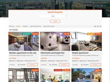 A Real Estate Project - wordpress website