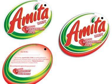 Invitation For AMITA Party