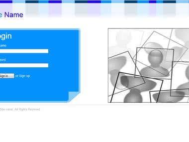HTML Login Page