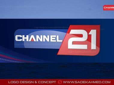 Logo Design for Channel 21   by SADEK AHMED
