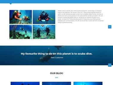 Shello Dive (Online booking website for Diving)