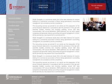 Studiosinisgalli - Full responsive Web Site