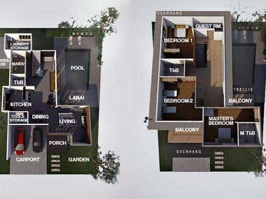 Floor Plan of 2 storey residential