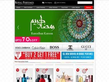 Royal Perfumes Website
