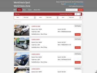 World Auto Spot Website