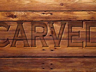Logo Design- Carved Style