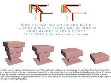 Foldable Ottoman Chair-Award Winner