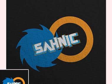 Sonic the hedgehog inspired logo design