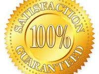 100% Satisfaction Guaranteed.....