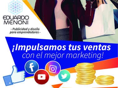 Volante/ Flyer de servicios de marketing digital