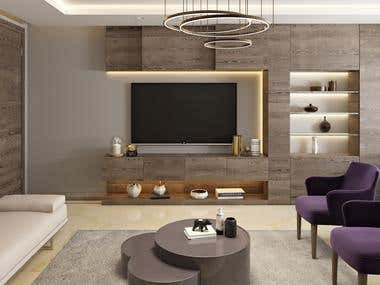London appartment 3D realistic visualization