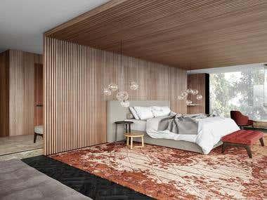 Interior design and 3D realistic visualization