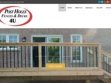 Web Site Post Holes Fences & Decks 4U