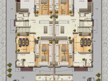 3D FLOOR PLAN AND RENDER PLANS