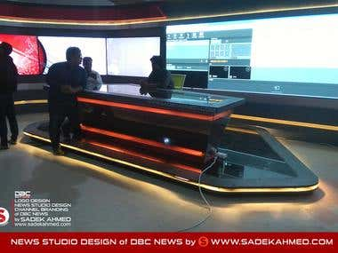Set Design of DBC NEWS by SADEK AHMED