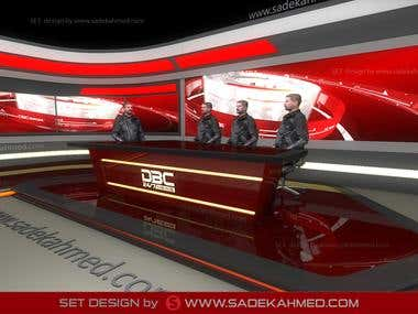 3D Layout Set Design for DBC NEWS by SADEK AHMED