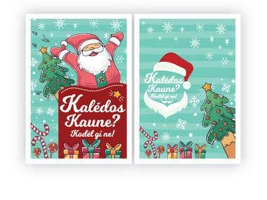 Christmas Card Design A6 Size