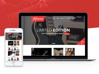 """Kremona Guitars"" Website Redesign"