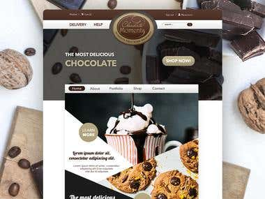 """Chocolate Moments"" Website Redesign"