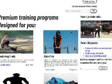 This a demo fitness website.