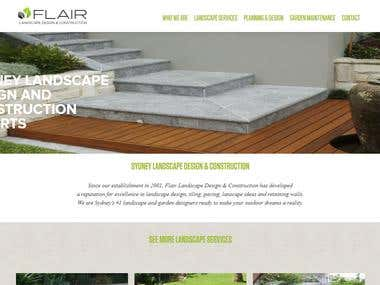 Corporate website for a outdoor landscapes desiners