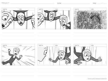 Storyboard for Cartoon Animation