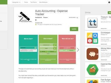 Auto Accounting of Expenses: Android App