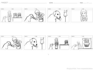 True Chews Storyboard for TV Commercial