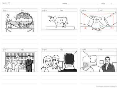 Storyboard for TV Commercial