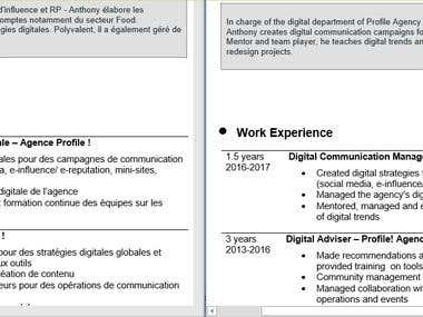 French-English HR translation