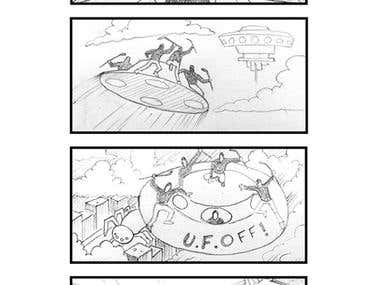 Storyboard for Animated Film