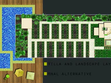 photoshop presentation and landscape design