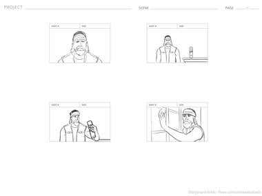 Storyboard for Sprayway TV Commercial