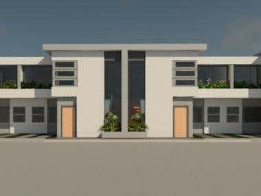 proyecto de zona residencial (townhouses)