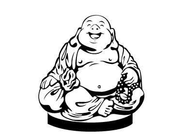 Fat Sungkajai Buddha iMage Vector