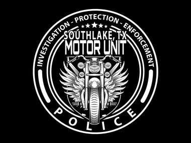 Texas Police Motorcycle Unit Logo Design