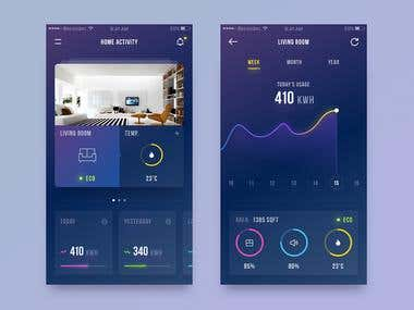 Smart Home UI Design