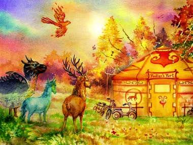 Fantasy Book Illustration