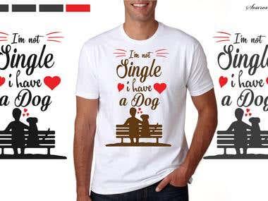 Dog Love T-Shirt Design