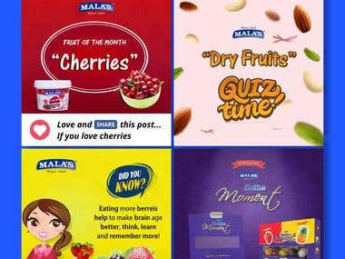 Social Media -Mala's Fruit