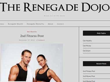 WordPress Site Build - The Renegade Dojo